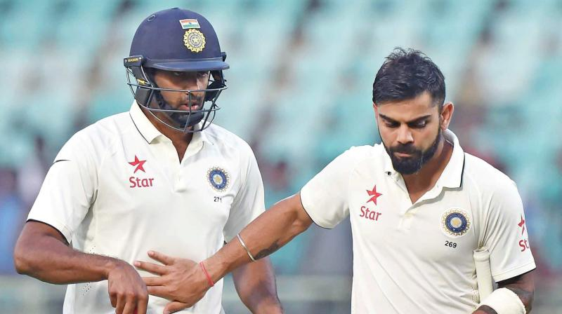 Virat Kohli and Ravi Ashwin
