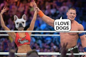 John Cena and dog